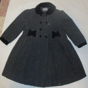 Girls Rothschild Wool Velvet Dressy Coat 6/6X Gray